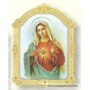 Mária szíve faplakett világos