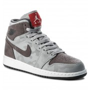 Cipő NIKE - Air Jordan 1 Retro Hi Prem Bg 822858 027 Wolf Grey/Dark Grey/White