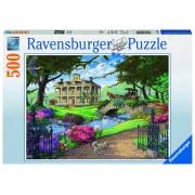 Ravensburger puzzle in vizita la conac, 500 piese