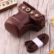 Full Body Camera PU Leather Case Bag with Strap for Canon EOS M10 (Coffee)