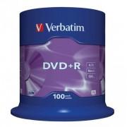 DVD+R 16x Verbatim Matt Silver Azo Tarrina 100 uds