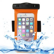 Universal IPX8 Certified to 10m Waterproof Carrying Case with Touch Responsive Front & Arm Band for iPhone 6 & 6S(Orange)
