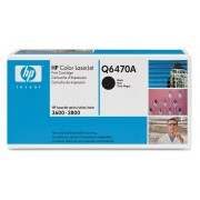 Q6470A Brand New Genuine Retail Original OEM ( FREE GROUND SHIPPING ! ) HEWLETT PACKARD - LASER JET TONERS BLACK TONER FOR COLOR LASERJET