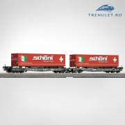 Set doua platforme transport tir HO, Roco 66604