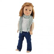 18 Inch Doll Clothes Skinny Jeans & Scarf | Outfit Fits 18 American Girl Dolls | Gift-boxed! by Emily Rose Doll Clothes