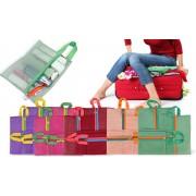 2753 Set 4 organizer a rete da viaggio per trolley e valigie
