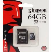 Kingston SDXC10/64GB Carte mémoire MicroSDHC Micro SD XC SDXC avec adaptateur Classe 10 64 Go 64G UHS-1