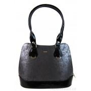 Menší stříbrná patinovaná kabelka přes rameno S634 GROSSO