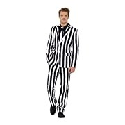 Smiffy's Adult men's Humbug Print Suit, Stand Out Suits, Jacket, trousers and Tie, Stand out Suits, Serious Fun, Size L, 43536