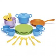 Green Toys - 66071 - Jeu D'imitation - Cuisine - Cookware And Dining Set