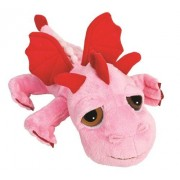 Suki Gifts Li'l Peepers Smoulder Dragon Soft Boa Plush Toy (Medium, Pink/ Red)