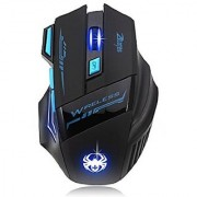 AFUNTA Zelotes Wireless Gaming Mouse Mice with 7 Button Adjustable DPI 600/1000/1600/2400 LED for Gamer Mac PC Computer