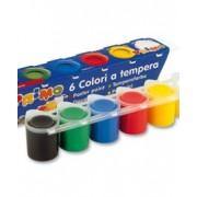 Темперни бои 6 цвята х 25 мл, бурканчета