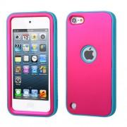 Funda Protector Mixto Apple Ipod Touch 5G Rosa / Azul Antiderrapante