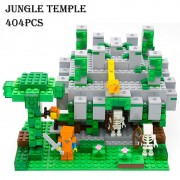 Model building kits compatible with lego 18026 21132 my worlds MineCraft The jungle temple Educational toys hobbies for children