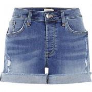River Island Womens Mid wash boyfriend fit denim shorts