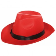 Rode gangster hoed volwassenen