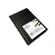 Royal y Langnickel negro A5 cuaderno de cartucho de papel de dibujo cuaderno de dibujo cuaderno de artista 110gsm 220 páginas (14 x 21,6 cm)