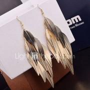 Druppel oorbellen Legering Bladvorm Zilver Gouden Sieraden Voor Bruiloft Feest Dagelijks Causaal 2 stuks
