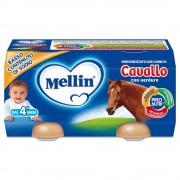 Mellin Omogeneizzati di carne - Cavallo con verdure - Confezione da 160 g ℮ (2 vasetti x 80 g)