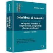 Codul fiscal al Romaniei Act. 8 Iulie 2015 comentat si adnotat - Emilian Duca
