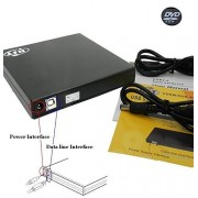 HST NEW Black USB 2.0 External Slim Portable CD / DVD-ROM Drive CD-RW Burner Drive (CD-RW) Reads and Writes Both CD for Laptops, Netbooks and Desktop PCs Support Windows 98/ SE /ME / 2000 / XP / Vista / Win 7/ Win 8 ,No need to Install Driver With CD,(Not