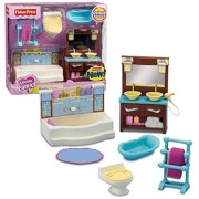Fisher Price Year 2010 Loving Family Dollhouse Deluxe Decor Furniture - BATHROOM with Bathtub