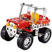 Easy Gift Car Metal Brick DIY Model Construction Set Educational Toy 3D Laser Cut Stainless Steel Metal Models Block Kits(119 PCS)