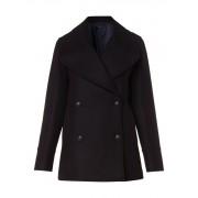 Jigsaw Classic mantel in wolblend met reuze reverskraag
