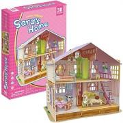 3D Puzzle Dream Dollhouse-Sara's Home 3D Puzzle P678h 96 Pieces