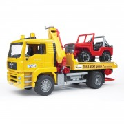 Bruder MAN TGA Tow Truck w/Vehicle - Yellow - 02750