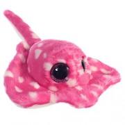 """Aurora Mundial """"rayée el Eagle Ray guisantes Aurora Mundial Yoohoo y amigos Sealife"""" juguete de peluche (Little, rosa / blanco)"""
