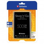 Hard disk extern Verbatim Store n Go Ultra Slim 500GB 2.5 inch USB 3.0 Black