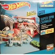 Hot Wheels Super Spin Carwash with Car! by Mattel
