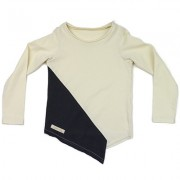 Bluza Diagonal (unisex) - alb murdar, 4-6 ani