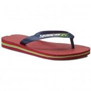 Vietnámi papucsok HAVAIANAS - Brasil Logo 41108501440 Red