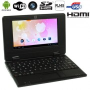 7.0 inch Android 4.0 Notebook PC CPU: VIA WM8880 A9 Dual Core 1.5GHz(Black)