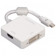 Cablu adaptor 3 in 1 Mini-Display Port - Display Port / HDMI / DVI-I HAMA