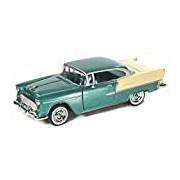 "Motormax GOTZMM73229MG 1:24 Scale Metallic Green ""1955 Chevrolet Bel Air"" Die Cast Model Car"