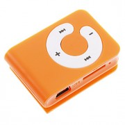 TF Card Reader MP3 Bag Jogador Forma com Clip Laranja
