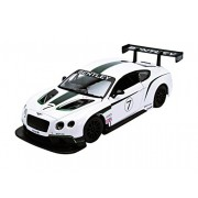 Bentley Continental GT3 White #7 1/24 by Bburago 28008