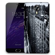 Snoogg Manhattan New York City Designer Protective Phone Back Case Cover For Meizu M2