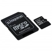 Card Kingston microSDHC 16GB Clasa 10 UHS-I 45MBs cu adaptor SD