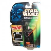 Star Wars Year 1997 The Power of the Force 4 Inch Tall Action Figure - DARTH VADER with Detachable Hand, Removable Helmet and Red Lightsaber Plus Bonus Freeze Frame Action Slide by Kenner