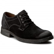 Обувки CLARKS - Devington Walk 261196717 Black Suede