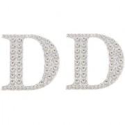 Magideal 2Pcs Self Adhesive Letters Diamante Post Box Favour Embellishment Crafts D
