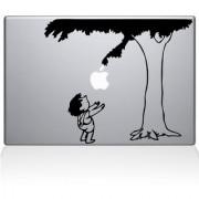 CVANU Cauch apple men Laptop Vinyl Sticker (Black)