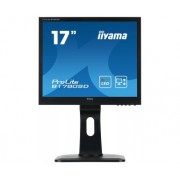 iiyama ProLite B1780SD-B1 17' LED LCD 1280x1024 Height adj Pivot Swivel Tilt speakers VGA DVI 250cd/m² 12M:1 ACR 5ms TCO6