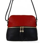 Malá crossbody kabelka se zlatým zipem NH6021 červená
