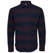 ONLY & SONS Solid Long Sleeved Shirt Man Röd